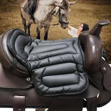 Horse Riding Saddle Pad Soft Equestrian Seat Pad Horse Riding Equipment Damping PU Saddle Pad Western Saddle Pad Painless