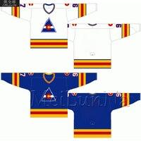 Chico Resch Lanny McDonald Rene Robert Wensink Rob Ramage Retro Colorado White Blue Hockey Jerseys