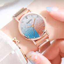 Gaiety Brand Watch For Women Alloy Belt Casual Simple Dial Starry Sky Luxury Quartz Wristwatches Gift Relogio Feminino
