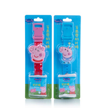 New peppa pig girl milk candy watch toy cartoon pattern action character model sugar snack boy pink birthday gift
