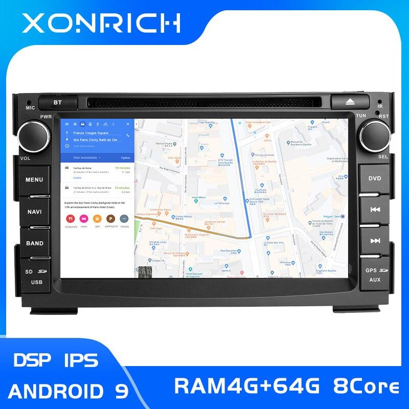 IPS DSP 2 Din Android 9 lecteur DVD multimédia de voiture pour KIA Ceed 2009 2010 2011 2012 auto radio GPS Navigation tête unité 4G Wifi