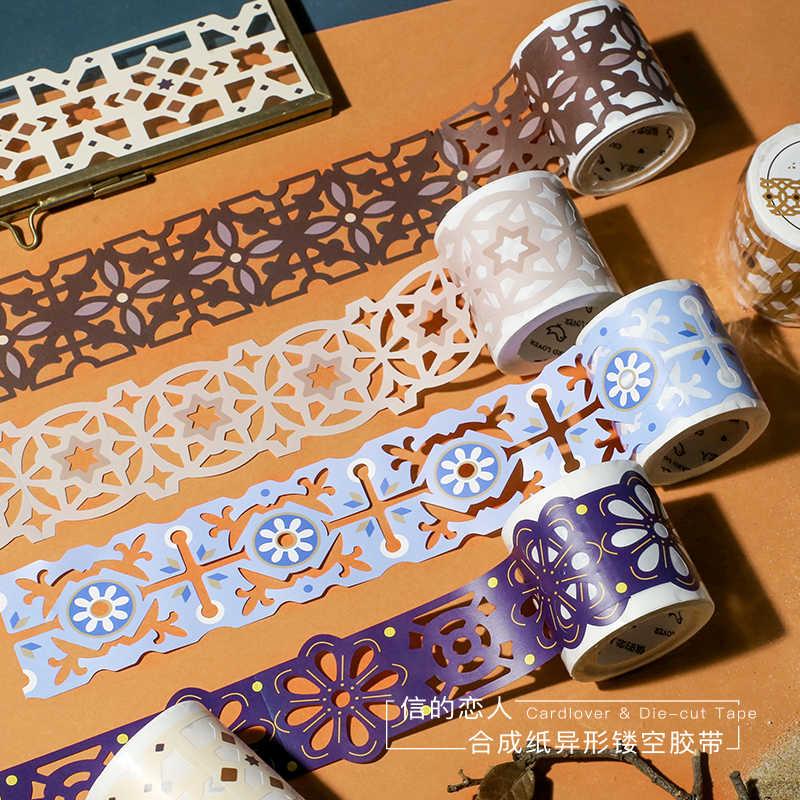 Koronkowa spódniczka Lisa kolekcja Hollow Washi taśma maskująca Release naklejki papierowe Scrapbooking papiernicze taśma dekoracyjna
