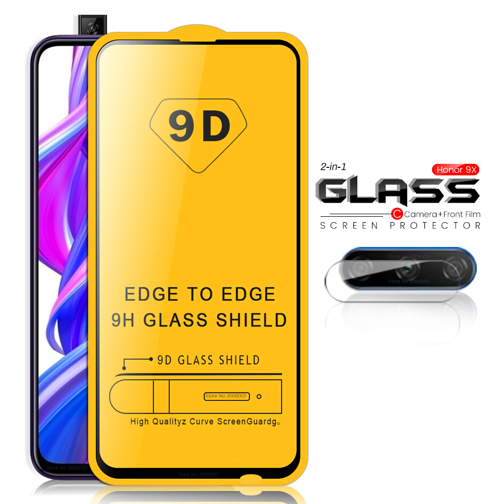 2-in-1 Camera Glass On For Honor 9x Premium Protective Glass Honor9x Honer 9 X Armor Protection Glas Xonor 9x X9 Stk-lx1 6.59''