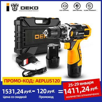 Deko-Bezprzewodowy wiertarko-śrubokręt nowa seria urządzeń 12 V 16 V 20 V bateria litowo-jonowa ustawienia momentu obrotowego tanie i dobre opinie NONE CN (pochodzenie) Domu DIY 50-60Hz 28 32 42 N m Homeworking Banger 12V Loner 16V Sharker 20V 1-1 2kg 10mm 1350 rpm