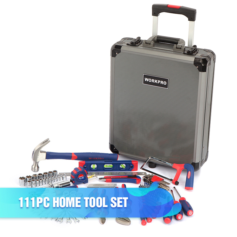 WORKPRO Home Tool Set Household Tool Kits Socket Set Screwdriver Set Home Repair Tools for DIY Hand Tools
