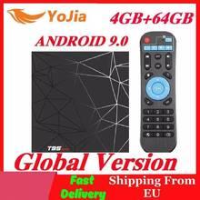 T95 max 4gb ram 64gb rom 6k caixa de tv inteligente android 9.0 allwinner h6 quadcore wifi media player youtube 2g16g t95max conjunto caixa superior