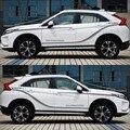 Мир Датун автомобиля Стайлинг спортивный автомобиль наклейки Автомобильные аксессуары для Mitsubishi EclipseCross Затмения Cross Оба Side наклейки