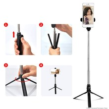 1Pcs Xt10 Selfie Stick Remote Control Telescopic Rod Desktop Live Berdiri Ponsel Tripod Selfie Stick(China)
