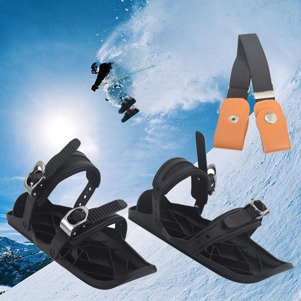 Outdoor Skiing New Mini Ski Skates For Snow Solid Short Skiboard Snowblades High Quality Adjustable Bindings Skiing Shoes #3