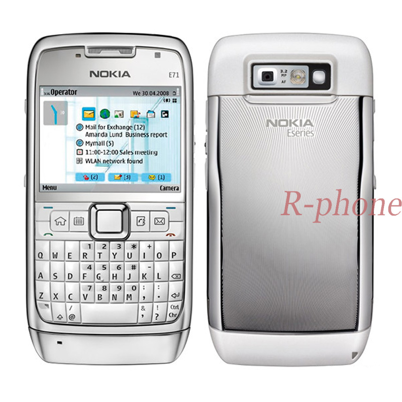 Refurbished Original Nokia E71 Mobile Phone 3G Wifi GPS Unlocked Smartphone Arabic Russian Keyboard