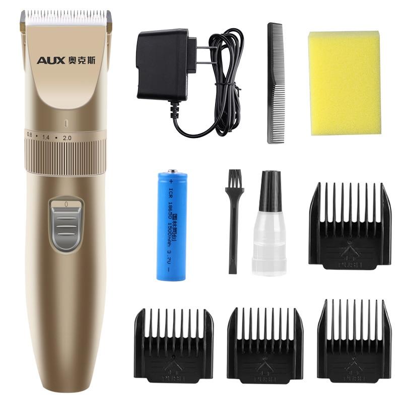 AUX Бытовая перезаряжаемая машинка для стрижки волос для взрослых и детей, электрические машинки для стрижки волос, бесшумная бритва