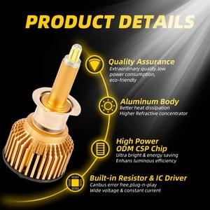 Image 3 - Süper parlak H7 Led 6 yan araba far ampulü 360 ° CSP 12000LM H1 H11 H8 H9 9005 HB3 9006 HB4 6000K yüksek güçlü araba lambaları