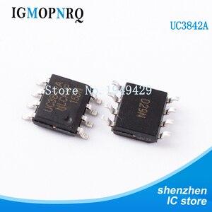 Nova 10 Pçs/lote UC3842 UC3842A UC3842B 3842 SMD Chip uc3842a SOP-8 Eletrônico Atacado