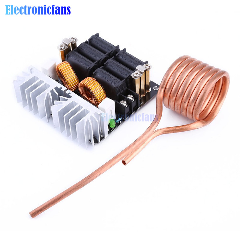 1Set 20A 1000W 12V-48V ZVS Low Zero Voltage Induction Heating Board Module Flyback Driver Heater High Power For DIY
