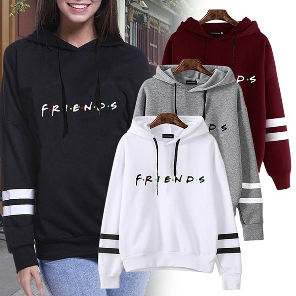 FRIENDS Printed Sweatshirt Hoodies Women/Men TV Show I'll Be There For You Hoodie Sweatshirts Fashion Fleece Warm Jacket Coat