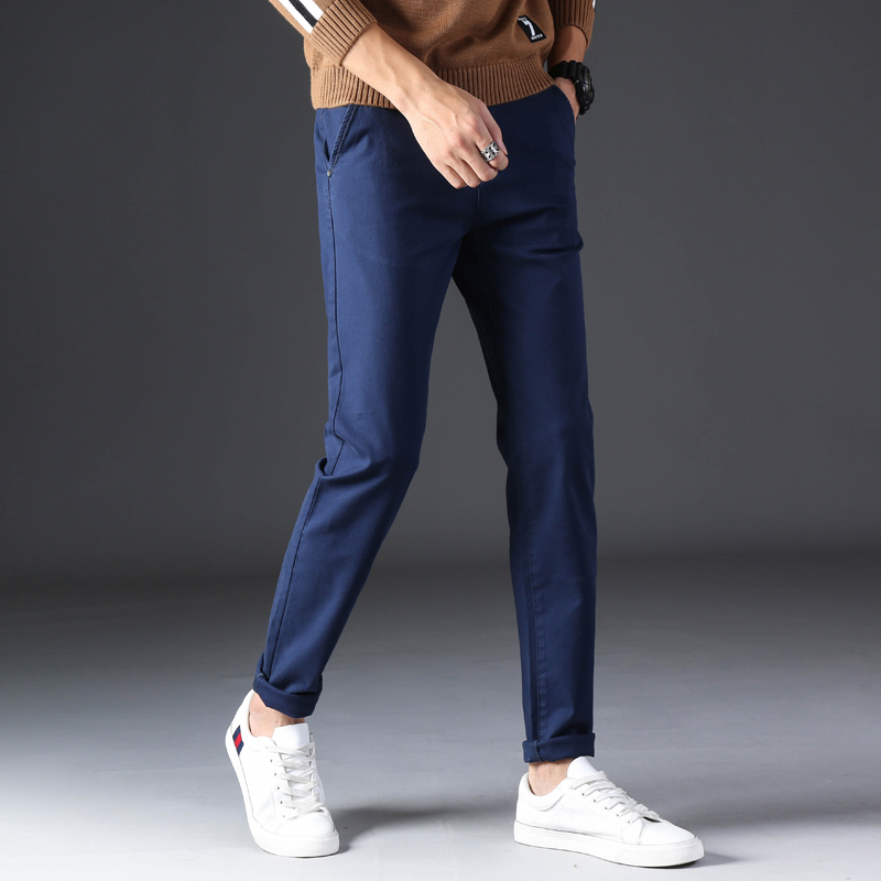 KSTUN 2020 Spring Summer New Casual Pants Men Cotton Slim Fit Chinos Fashion Trousers Male Brand Clothing Basic Mens Pants 15