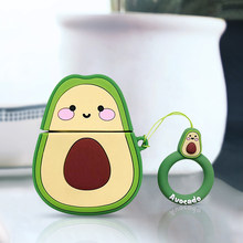 Fashion 2020 Case For Apple AirPods 2 1 Earphone Soft Case For Apple Air Pods 1 2 Cartoon Strawberry Avocado Cover With Hooks(China)