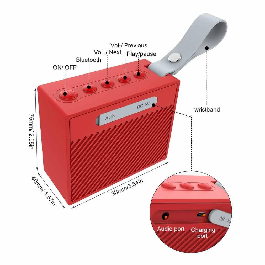 Na zewnątrz przenośne bezprzewodowe Hifi Bluetooth V4.2 głośnik z Enhanced Bass wodoodporna IPX6 z 5W Audio Driver