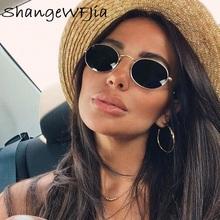 Małe owalne lustro okulary przeciwsłoneczne dla kobiet luksusowe 2020 mężczyźni marka designerskie okulary odcienie damskie aluminiowe okulary przeciwsłoneczne UV400 okulary tanie tanio ShangeWFJia WOMEN ROUND Dla dorosłych STAINLESS STEEL Fotochromowe 36mm Z poliwęglanu 51mm Shopping Party Travel T Show Driving Ray sunglasses