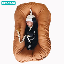 Medoboo Cotton Newborn Baby Nest Portable Crib Bed Cot Cribs Travel Cradle Cushion Bassinet Bumper Room Decor