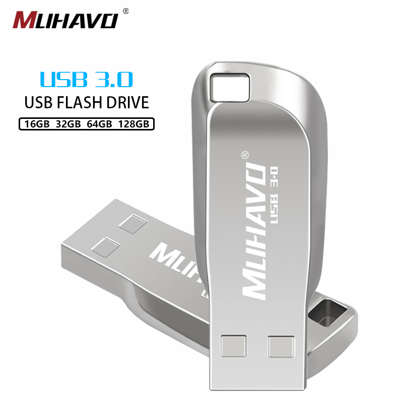 Usb Metal High Speed Flash Drive 32GB Usb3.0 Metal Pen Drive 64gb Pendrive 128GB 8GB 16GB Usb Stick Gift Usb Flash Drive