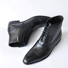 39-47 мужские ботинки кожаные высококачественные удобные повседневные мужские Ботильоны# AF3999