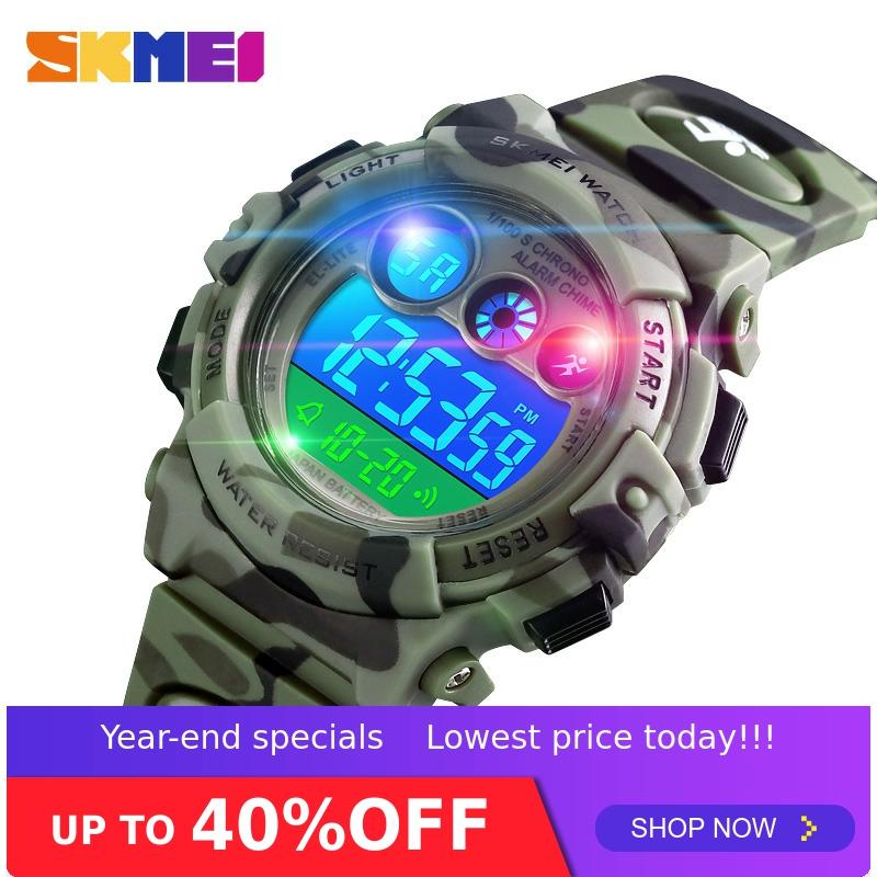 SKMEI Sport Kids Watches Young And Energetic Dial Design Waterproof 50M Colorful LED+EL Lights Relogio Infantil 1547 Children's