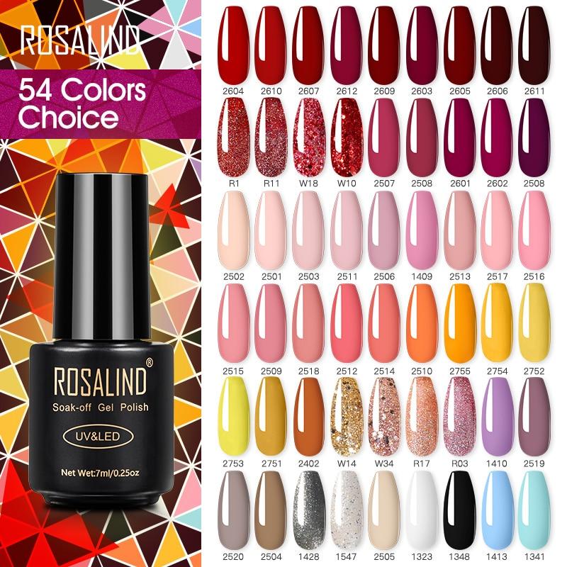 ROSALIND лак для ногтей гибридная красная серия дизайн ногтей Vernis полупостоянная основа верхнее покрытие УФ светодиодный Смягчающий гель лак д...