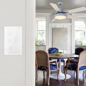 Image 5 - Wifi Thông Minh Quạt Trần Đèn Treo Tường Công Tắc Đời Tuya Ứng Dụng Từ Xa Khác Nhau Điều Khiển Tốc Độ Interruptor Tương Thích Cho Alexa Google Home