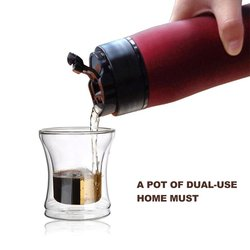 350ML Stainless Steel French Press Coffee Pot Brewer Maker Kettle With Coffee Plunger Filter Double Wall Vacuum Mug Pot