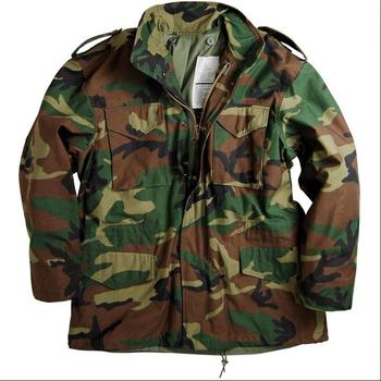 Woodland Camouflage M65 Army Jacket Water Repellent Military Uniform for CS Man Winter Warm Jacket  For Outdoor Classic M65 Army m65 0003 read description asian size duck feather super warm m51 m65 parka jacket lining