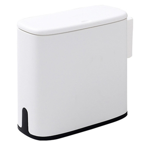 11l lata de lixo banheiro lixo bin toalete lixo cesta balde de lixo saco de lixo titular recipiente de armazenamento branco|Cestos de lixo| |  -