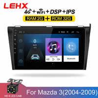 SAMOCHODOWY ODTWARZACZ DVD GPS android 8.1 Radio samochodowe Stereo 2G 32G darmowa mapa Quad Core samochodowy odtwarzacz multimedialny 2 Din dla Mazda 3 2004 -2013 maxx axel