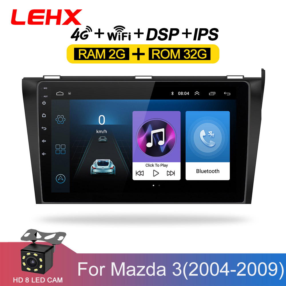 Car DVD GPS android 8.1 Car Radio Stereo 2G 32G Free MAP Quad Core 2 din Car <font><b>Multimedia</b></font> Player For <font><b>Mazda</b></font> <font><b>3</b></font> 2004-2013 maxx axel image