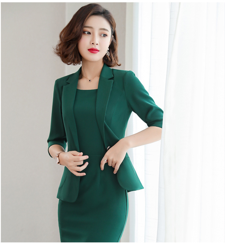 S-5XL Formal Dress Blazer Women Dresses with Jacket Women's Dress Suit Set Office Wear Work for Ladies Evening Elegant Costumes