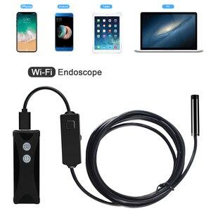Image 5 - 8 ミリメートル 1/2/3/5 メートル無線 lan 内視鏡ミニカメラソフトケーブル usb 内視鏡ボアスコープのためのアンドロイド/iphone と pc