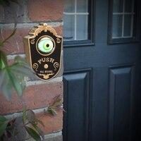 Дверной звонок в хэллоуинском стиле бутафория для Хэллоуина Одноглазый с светящимися глазами пугающий голос магический дверной звонок Хэл...