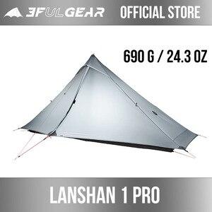 Image 1 - 3F UL GETRIEBE offiziellen Lanshan 1 pro Zelt Im Freien 1 Person Ultraleicht Camping Zelt 3 Saison Professionelle 20D Silnylon Kolbenstangenlosen