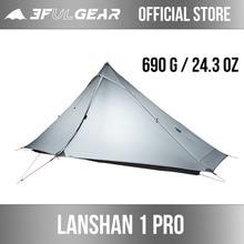 3f ul engrenagem oficial lanshan 1 pro tenda ao ar livre 1 pessoa ultraleve barraca de acampamento 3 temporada profissional 20d silnáilon sem haste