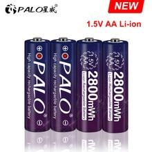 100% neue 1,5 v AA akku 2800mwh li-ion lithium-ionen AA 2A batterien für spielzeug kamera taschenlampe