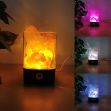 С украшением в виде кристаллов гималайской соли лампа led usb