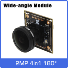 Super Wide angle Panoramic AHD camera of 180 degrees  4in1 Module Board with Fisheye Lens UTC Coaxial OSD Control 11 languages
