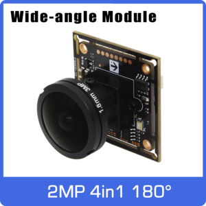 Image 1 - Super Wide angle Panoramic AHD camera of 180 degrees  4in1 Module Board with Fisheye Lens UTC Coaxial OSD Control 11 languages