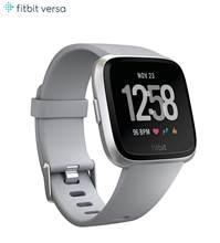 Умные часы Fitbit Versa Lite для здоровья и фитнеса, 24/7 пульсометр, розовый/черный/серебристый, один размер (S и L ремешки в комплекте)