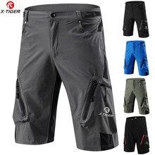 X-TIGER pro calções de bicicleta de montanha dos homens ciclismo shorts respirável solto apto para esportes ao ar livre correndo mtb bicicleta calças curtas