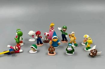 15pcs/lot Super Marios Figure Model Toy Hot Game cute Luigi Koopa Bowser Mushroom Turtle Toys