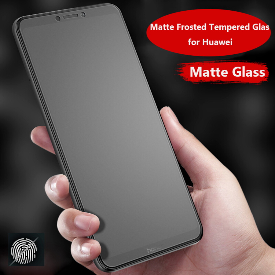 No Fingerprint Matte Frosted Tempered Glass For Huawei Honor View 20 P30 Pro P Smart Plus 2019 Screen Protector Glass Nova 3 3i