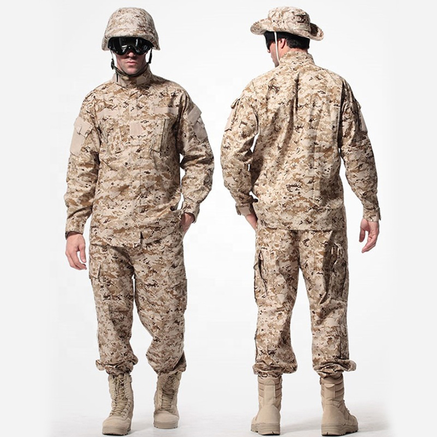 WW2 ACU Camouflage Military Uniform High Quality Desert CP Man Army Suit Tactical Jacket Combat Pants Hunting Security Costumes