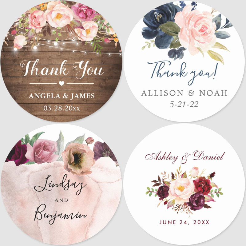 100pcs Custom Personalized,Wedding Stickers,Invitations,Candy Favors Gift Boxes Labels,Birthday,Logo, Photo Presents Baby Shower