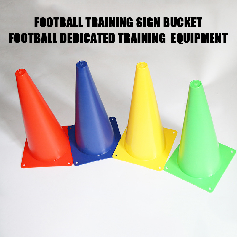 38cm Soccer Football Basketball Training Anti-wind Road Sign Cone Durable Barrier for Kids Marker Bucket Sports Accessories